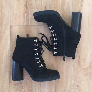 Shoes - Black heeled booties